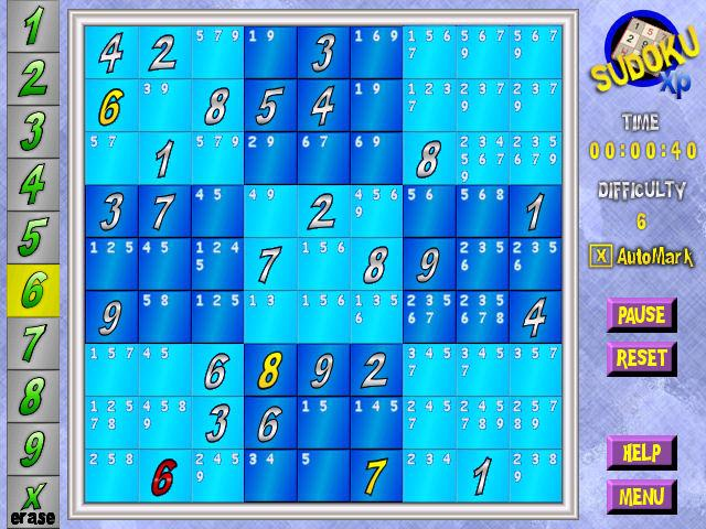 Sudoku XP Screenshot
