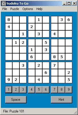 Sudoku To Go Screenshot